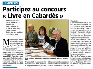 Concours livre en Cabardès